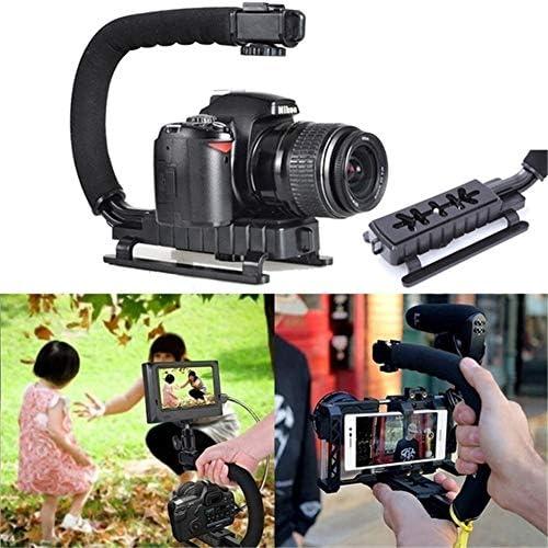 YELANGU Video Action Stabilizing Handle Grip Handheld Stabilizer Hot-Shoe Mount Canon Nikon Sony Panasonic Pentax Olympus DSLR Camera Camcorder