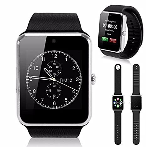 Amazon.com: GT08 Bluetooth Smart Wrist Watch GSM for Android ...