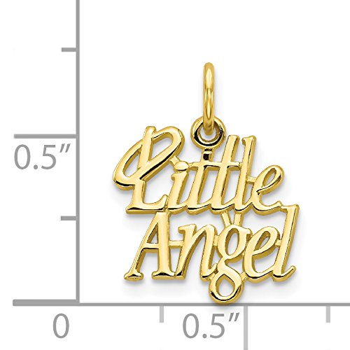 10k Yellow Gold Little Angel with Halo Charm Pendant