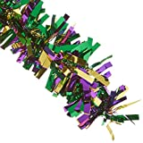 6-Ply FR Gleam N Fest Festooning Garland (gold, green, purple) Party Accessory  (1 count)