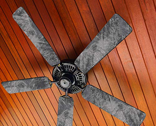 Fancy Blade Ceiling Fan Accessories Blade Cover Decoration, Realtree (Realtree Fish Gray)