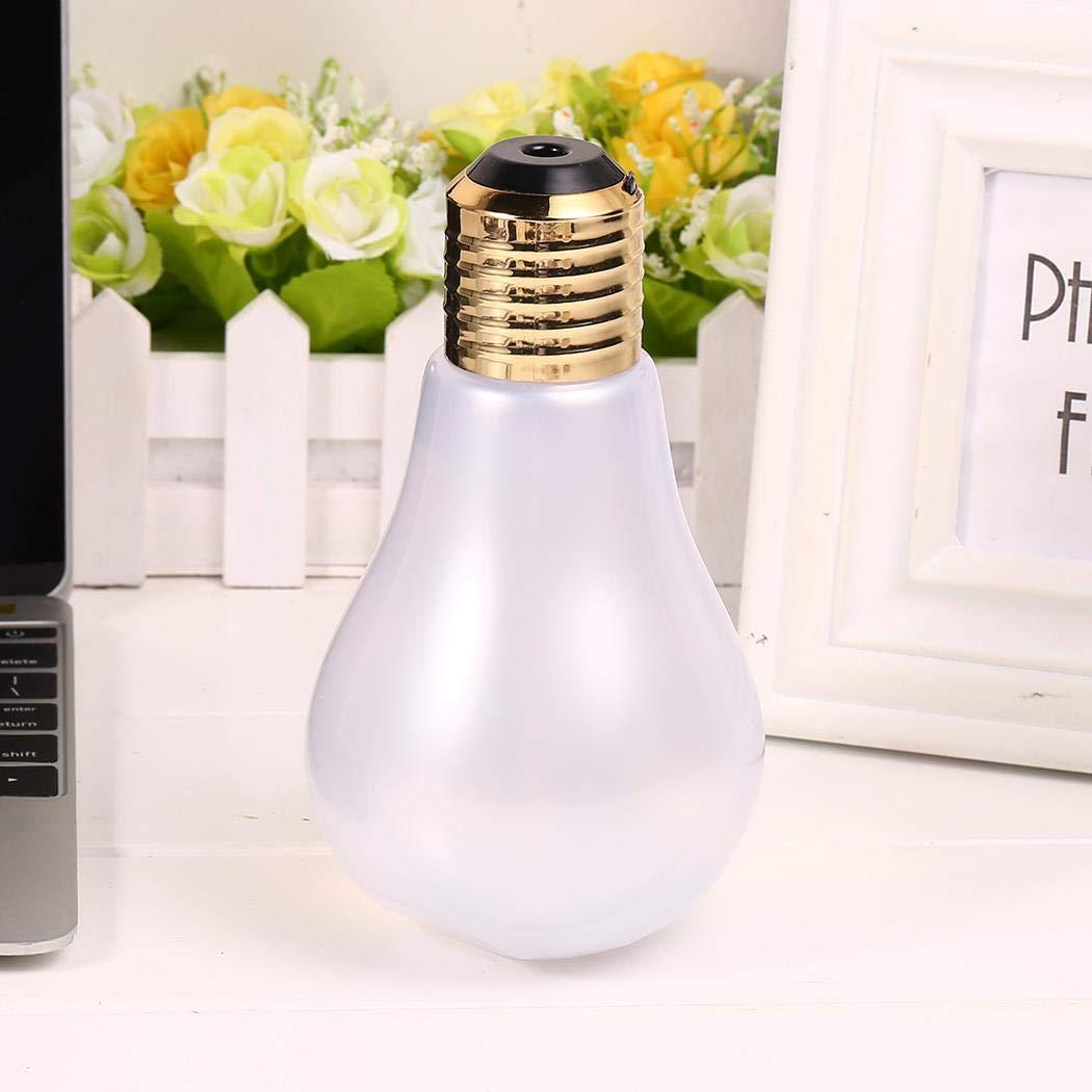 Eroihe Mini USB Bulb Shape Humidifier Portable LED Lamp Air Diffuser For Home