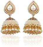 YouBella Jewellery Earings Traditional Gold Plated Fancy Party Wear Jhumka / Jhumki Earrings for Girls and Women