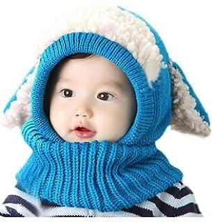 yuhemii niño bufanda de invierno chal para capa de lana bebé capa caliente  cachorro Kid gorro bb0d1df40b6