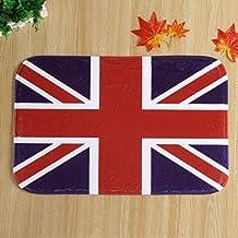 "Ikeelife® Comfort Rectangle Best Gift Home Clean Absorbent Antiskid Carpet Floor Hall Bedroom Mat Doormats,Area Rugs Carpet,Washable & Water-absorbant, British Union Jack 40*60cm / 15.76*23.64"""