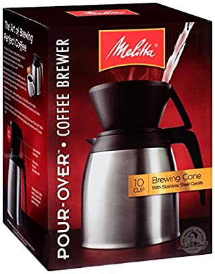 Melitta Coffee Maker, Single Cup Pour-Over Brewer with Travel Mug (Pack of 2)