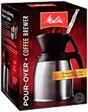carafe and cup - Melitta Coffee Maker, 10 Cup Pour- Over Brewer with Stainless Thermal Carafe