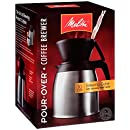 Melitta Coffee Maker, 10 Cup Pour- Over Brewer with Stainless Thermal Carafe