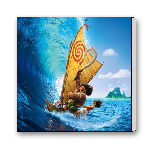 "Scottshop Custom Moana Movie Modern Gallery Wrapped Wall Art Canvas Print 16 ""x 16"" Inch"