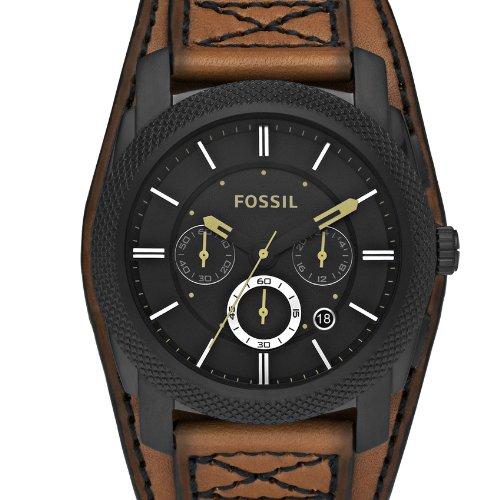 Fossil Mens Dress FS4616 - Reloj cronógrafo de cuarzo para hombre, correa de cuero color marrón (cronómetro): Amazon.es: Relojes