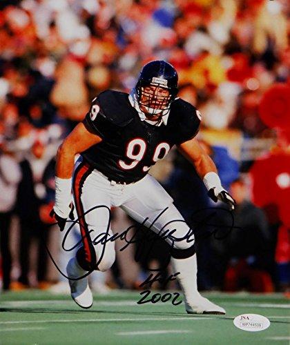 Dan Hampton Autographed HOF Bears 8x10 In Stance Photo- JSA W Auth Black ()