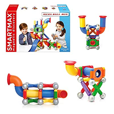 SmartMax Mega Ball Run STEM Magnetic Discovery Building and Ball Run Set Featuring Safe, Extra-Strong, Oversized Building Pieces for Ages 3+: Industrial & Scientific