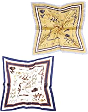 2 Packs Luxury Satin Silk Feeling Hair Scarf, Bandana Scarf, Neckerchief for Women