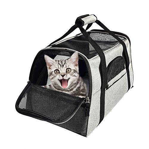 Cat Carrier Airline Approved Travel Bag for Small Dogs and Cats Luxury Pet Carriers Soft Sided