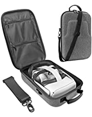 LOVEDAY Hard Travel Case for Oculus Quest 2 / Oculus Quest VR Gaming Headset Controllers Accessories Waterproof Carring case (Gray)