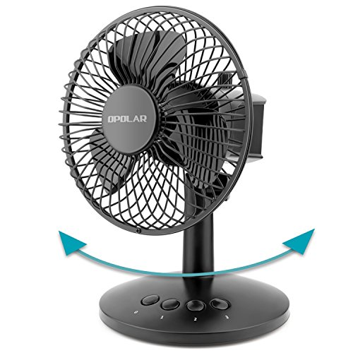 ting Mini Fan, AA Battery (not Included) Operated or USB Powered, Portable Table Fan, 3 Speeds, Adjustable Head, Enhanced Airflow and Low Noise, Personal Office Fan for Home ()