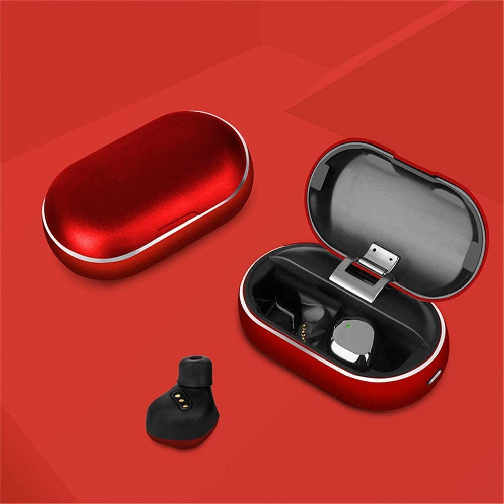 Latest Bluetooth Earphone Metal 7 Level Waterproof Earphone True Wireless Headset 5.0 Bluetooth Earphone by LICHPZY (Silver) RED 0exlF6b