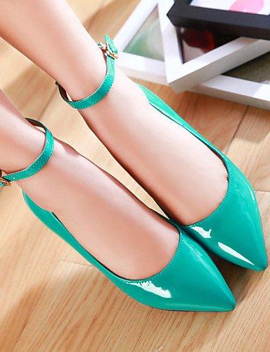 Toe verde señaló red mujeres uk6 eu39 rojo de us8 Casual plano las azul talón zapatos cn39 PDX amarillo negro Flats almendra aqYwOf0F
