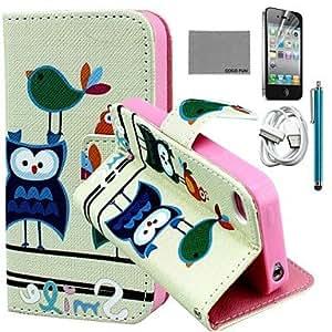 Carcasas de Cuerpo Completo - Gráfico/Dibujos Animados/Diseño Especial/Innovador/Manga - para iPhone 4/4S/iPhone 4 Cuero PU/TPU )