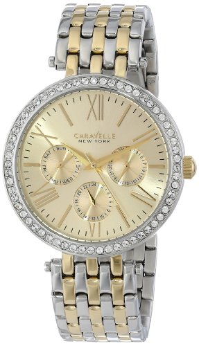 Caravelle New York Women's 45N100 Analog Display Japanese Quartz Two Tone Watch by Bulova