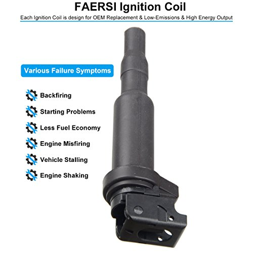FAERSI Ignition Coil Pack Set of 6 Replaces OE# 0221504470 for
