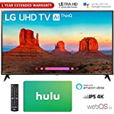 LG 65' Class 4K HDR Smart LED AI UHD TV w/ThinQ 2018 Model (65UK6300PUE) with Hulu $25 Gift Card & 1 Year Extended Warranty