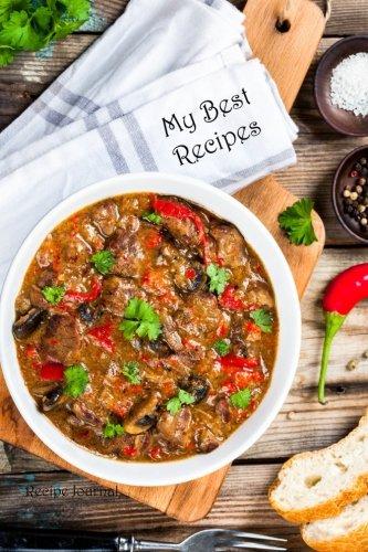 My Best Recipes: Recipe Journal (Blank Cookbooks) (Volume 55) by Recipe Junkies