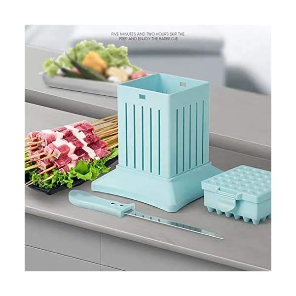 JNT- 36 Holes Carne Spiedino Kebab Maker Box macchina carne di manzo Cuber Maker Grill Barbecue Cucina Accessori… 2 spesavip