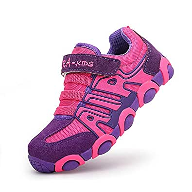 O.T.Sea Boy's Girl's Casual Strap Light Weight Sneakers Running Shoes(Toddler/Little Kid/Big Kid) 852P-32 Rose Pink