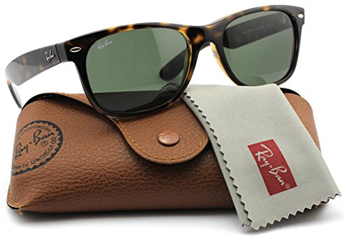 Ray-Ban RB2132 New Wayfarer Classic Unisex Sunglasses (Havana Frame / Green Lens 902L, - 2132 Ban Model Ray