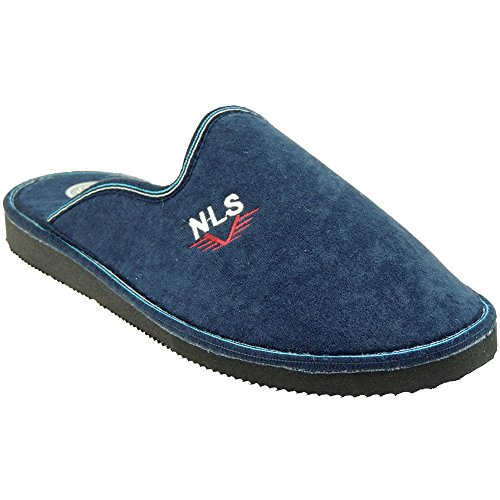 SELQUIR - Zapatilla Chinela De Casa Para Hombre En Tallas Grandes Azul