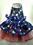 Dog clothes Harness Dress: Fur Baby Puppy Couture harness Dress Yorkie clothes chihuahua harness Patriotic ParadeWear