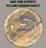 Barrel and Burlap Bourbon Barrel Lazy Susan Turntable Made in the USA from an Authentic Reclaimed Barrel Top