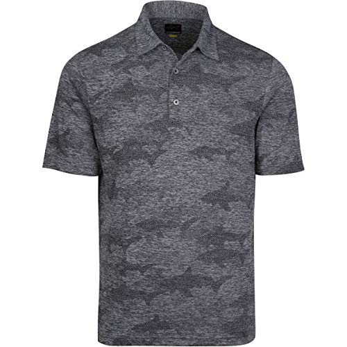 Greg Norman Stream Polo, Black Heather, X-Large ()