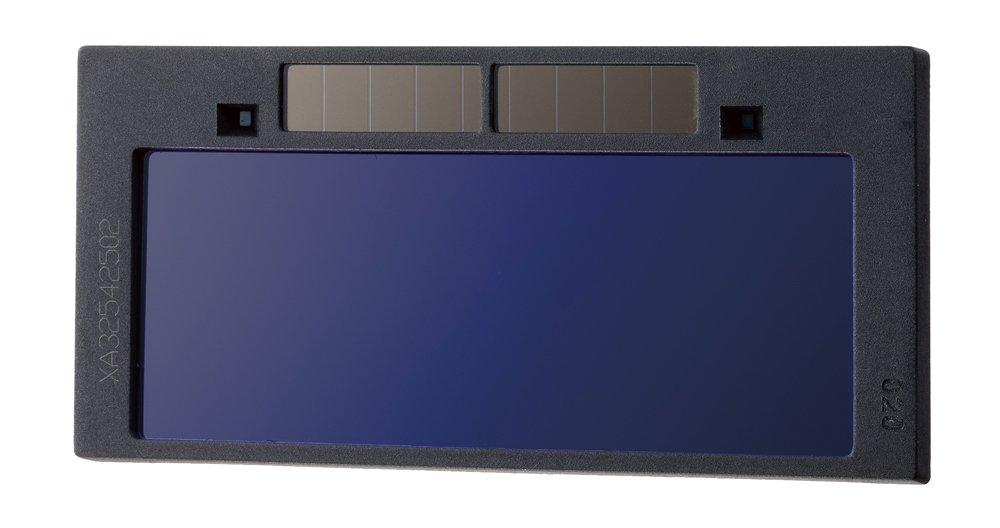 自動遮光液晶溶接面 自動感光式溶接マスク 特大スーパー自動フィルター ワイドビュータイプ 遮光速度.00003秒 ソーラー充電式溶接マスク/ 溶接ヘルメット 遮光度#9~#13可変 ブルー B07174MFGQ 青色