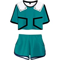 My Sky 2 Piece My Hero Academia Outfits for Women Crop Top and Short Pants Sets