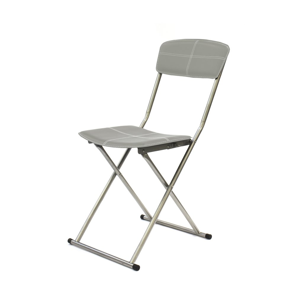 THE HOME DECO FACTORY - Silla Plegable Metal/PU, Gris Claro ...