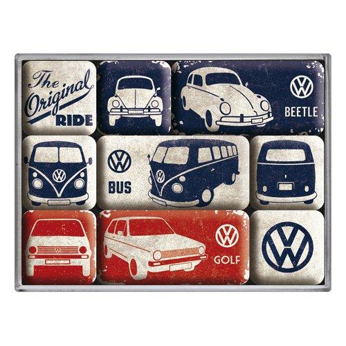 volkswagen-vw-original-ride-set-of-9-mini-fridge-magnets-in-box-na
