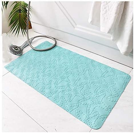 GHHQQZ バスルームのカーペット 厚さ0.5 cm ノンスリップ 環境を守ること 強力な吸着 ゴム 入浴 キッチン フットパッド バスルームラグ、 4色、 54x54cm (Color : Pink, Size : 54x54cm)