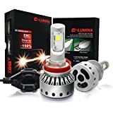 DLUMINA H11 H8 H9 LED Headlight Bulbs Conversion Kit, CREE XHP50 8,000Lm 6000K Xenon White, Low Beam Headlamp, High Beam Headlights, Fog Light, HID or Halogen Head light Replacement - 3 Year Warranty