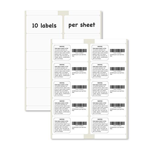 PACKZON Shiipping Labels for Laser & Inkjet Printers, with Self Adhesive 2 x 4 Inch (1,000 Labels / 100 (4in 1 Laser Printer)