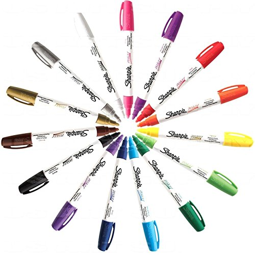 Sharpie KIT-PNTMKR-15-MD Paint Marker Medium Point Oil Based All 15 Color Set by Sharpie