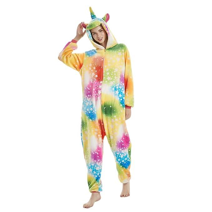 OAMORE Unisex Unicornio Pijamas Cartoon Animal Cosplay Disfraces Pijamas Adultos Ropa De Noche