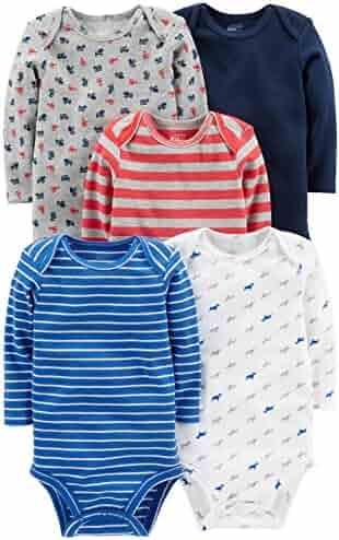 Simple Joys by Carter's Baby Boys 5-Pack Long-Sleeve Bodysuit