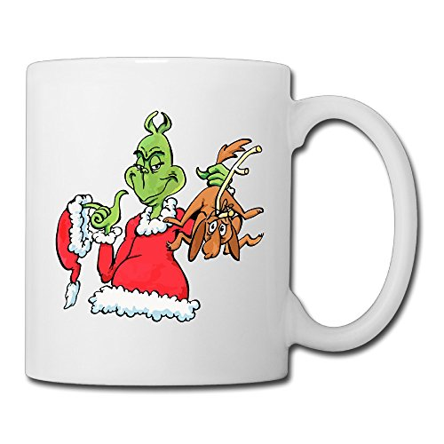 Grinch Costume Jim Carrey (Cool How The Grinch Stole Christmas! Ceramic Coffee Mug, Tea Cup | Best Gift For Men, Women And Kids - 13.5 Oz, White)