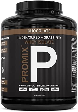 Native Grass Fed Whey Protein Isolate | 100% Optimum All Natural | Undenatured | Non-GMO + Gluten-Free + Soy-Free | Best for Fitness Nutrition Shakes | Energy Smoothie (Chocolate, 5LB)