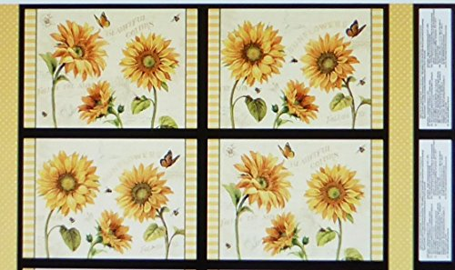 Flowers Cotton Quilt Fabric (Follow the Sun~Sun Flower Placemats 24