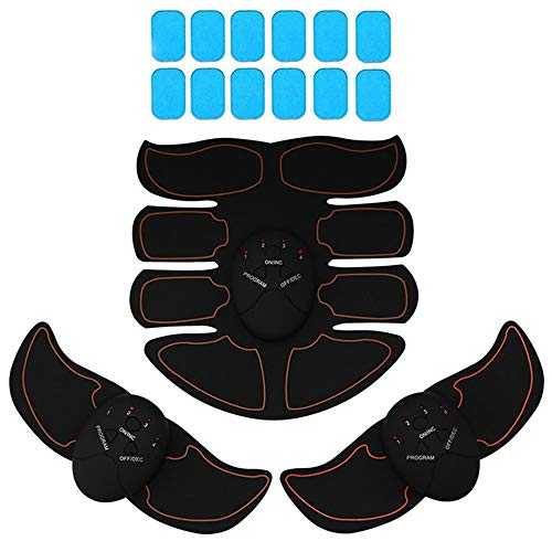 KINGSOO Abdominal Muscle Toner, 8 Pack Abdominal Trainer Free with 12 Gel Pads – Smart Fitness Training Body Fit Toning Abs Trainer Fat Burning Slimming Workout for Women & Men