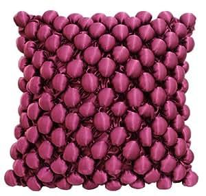 Bch Artifical Silk Cushion Cover, Throw Cushion Cover Modern Simple Style Soild Light Beige Square 1818