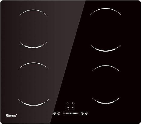 Opinión sobre GIONIEN Placas de inducción, Estufa eléctrica de 60 cm incorporada, Cocina de 4 quemadores GIB464SC